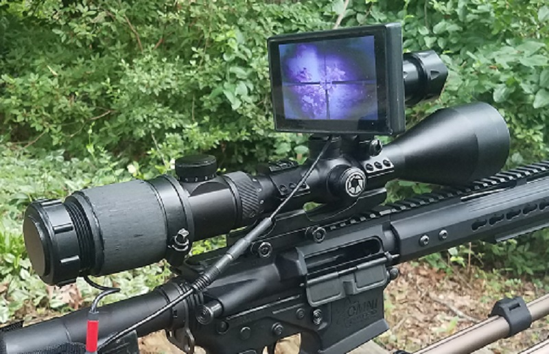 Digital Crosshairs 1000 night vision clip-on
